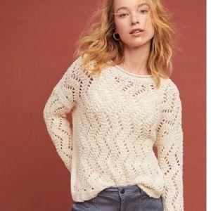 Anthropologie Akemi + Kin Pointelle Knit Sweater
